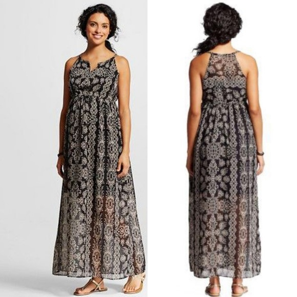 *HP!* Liz Lange Plus Size Maternity Maxi Dress 2X